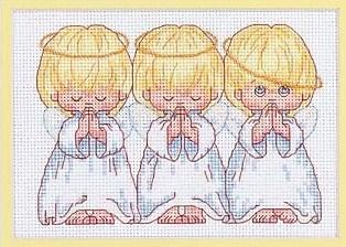 Вышивка крестом мамы и дети