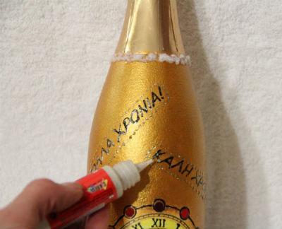 декупаж бутылки шампанского фото