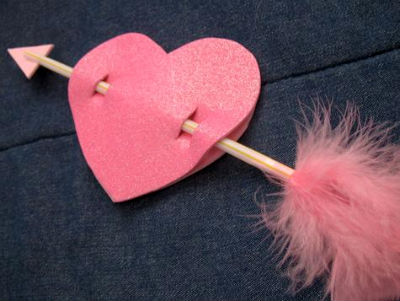 """валентинка своими руками """"Стрела в сердце"""""""