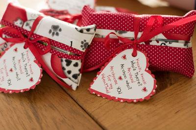 Упаковка для подарка любимому в виде валентинки