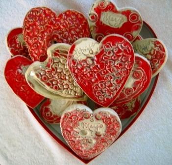 Валентинки из полимерной глины своими руками