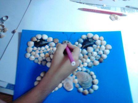 Мастер-класс по изготовлению картины из ракушек своими руками.