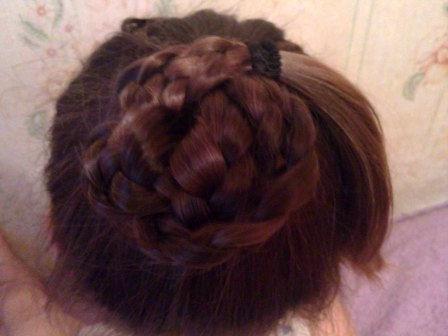 как делать пучок из волос