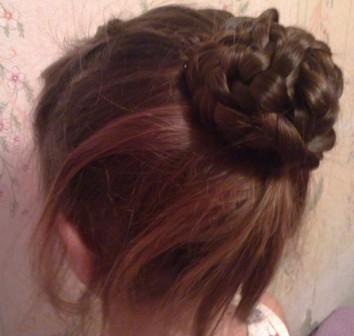 как делать пучок из волос фото