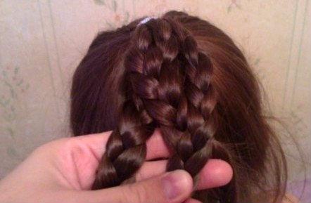 как сделать пучок из волос фото