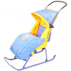 детские санки коляска Снегурочка