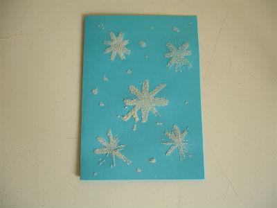 """детская новогодняя открытка """"Вальс снежинок"""" своими руками"""
