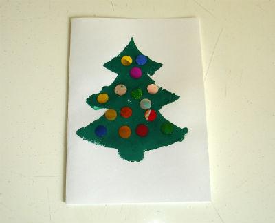 """детская новогодняя открытка """"Елочка"""" своими руками"""