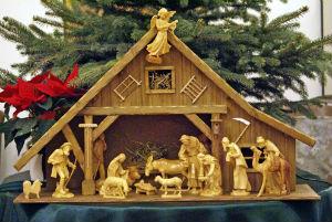рождественский вертеп: пещера