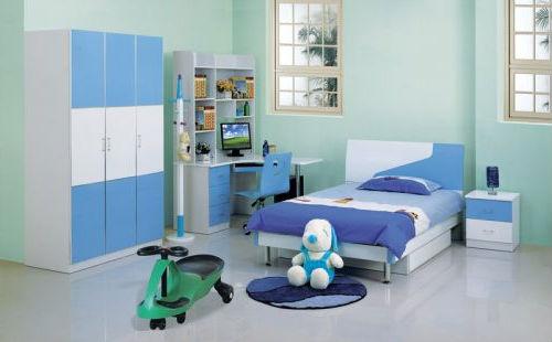 детская мебель для мальчика в голубых тонах