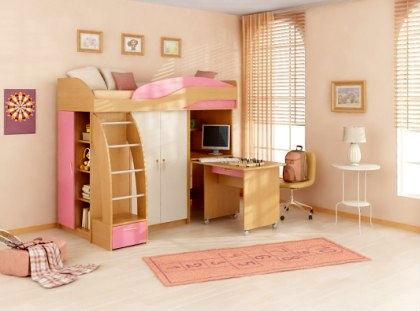модульная мебель для детской комнаты девочки