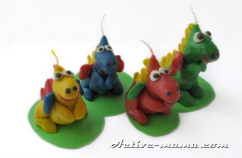 пластилиновые дракончики
