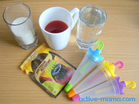 материалы для приготовления фруктового льда