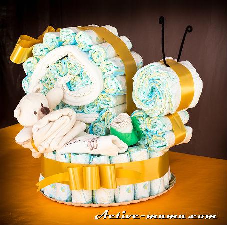"торт из памперсов ""Улитка"""