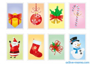 марки для писем Деду Морозу