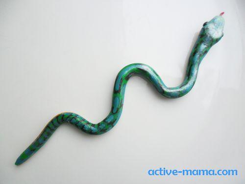"""игрушка на елку """"Змея"""" своими руками"""