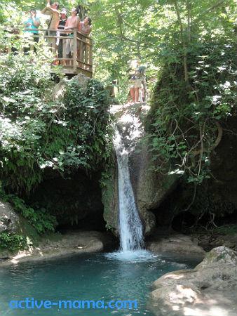джип-сафари, водопад