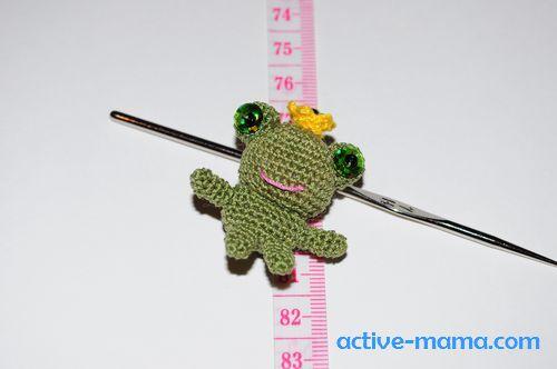Вязание крючком царевна лягушка амигуруми 213