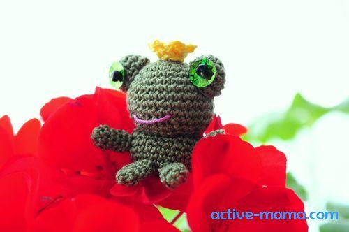 лягушка-амигуруми фото