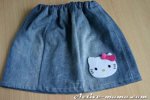 Сделать аппликацию на юбку
