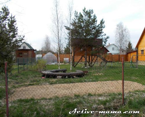 детская площадка на даче своими руками фото