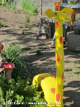 """поделка для детской площадки """"Жираф"""""""