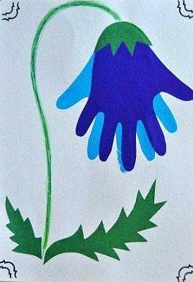 Цветы из ладошек своими руками