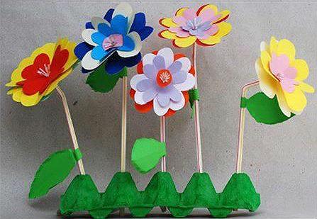 Цветы своими руками в сад на 8 марта