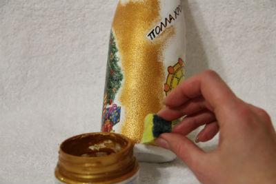 декупаж новогодних бутылок фото