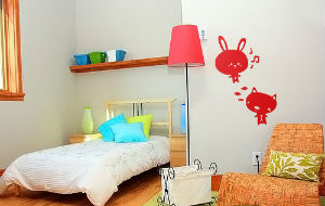 декоративные наклейки на стену в детской комнате