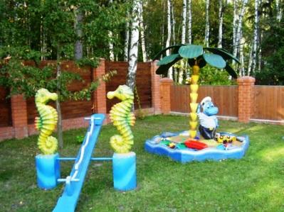 Детская площадка в саду своими руками