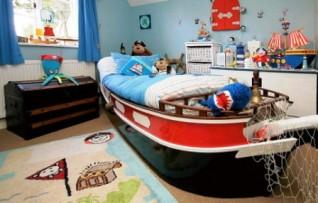 Дизайн детской комнаты мальчика в морском стиле