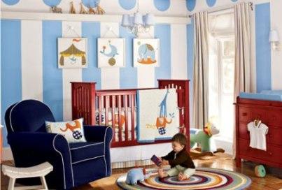 Интерьер детской комнаты для мальчика в традиционном стиле