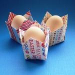 пасхальные оригами. подставки под яйца