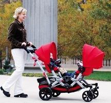 коляска для двоих детей