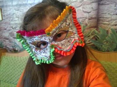детская новогодняя маска своими руками