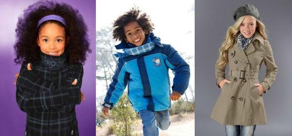 верхняя модная одежда для детей