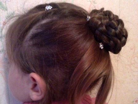 пучок из волос фото