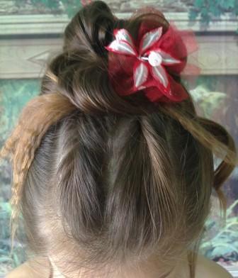 прическа для девочки для длинных волос фото