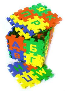 коврик-паззл для обучения ребенка буквам