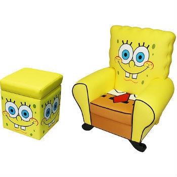 кресло губка боб