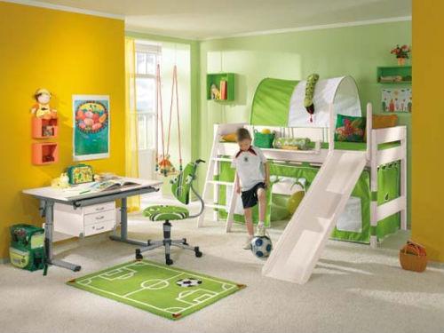мебель для детской комнаты для мальчика в зеленых тонах