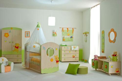 зеленая мебель для детской комнаты для девочки
