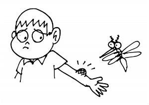 ребенка покусали комары
