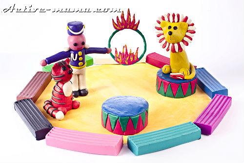 цирк из пластилина своими руками