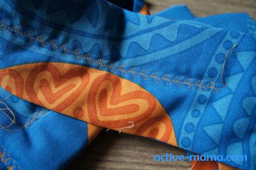 декоративный шов украшает лямки