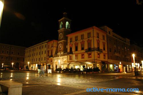 Римини ночью