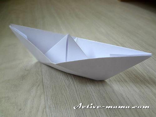 кораблик из бумаги своими руками