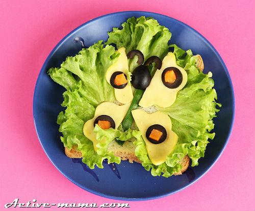 детский бутерброд фото