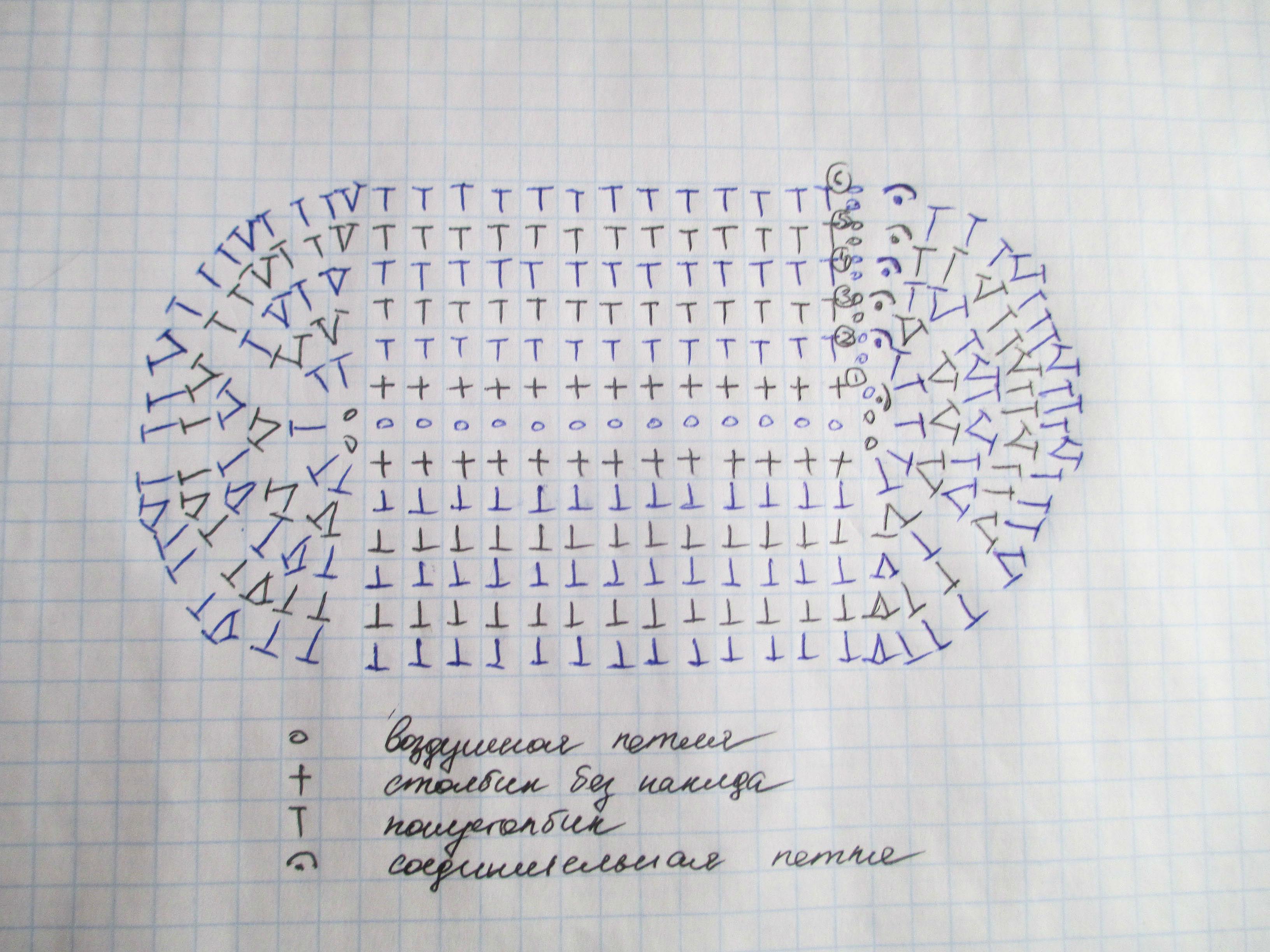 пинетки-кеды: схема подошвы